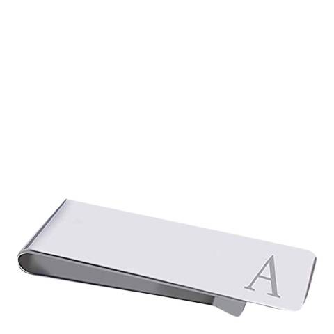 "Stephen Oliver Silver Initial ""A"" Money Clip"