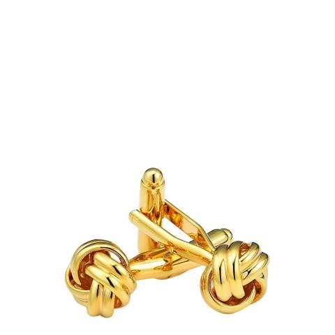 Stephen Oliver 18K Gold Plated Knot Cufflinks