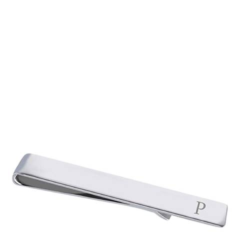 """Stephen Oliver Silver Initial """"P"""" Tie Bar"""
