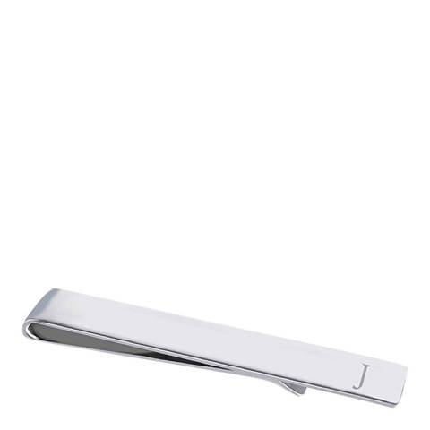 """Stephen Oliver Silver Initial """"J"""" Tie Bar"""