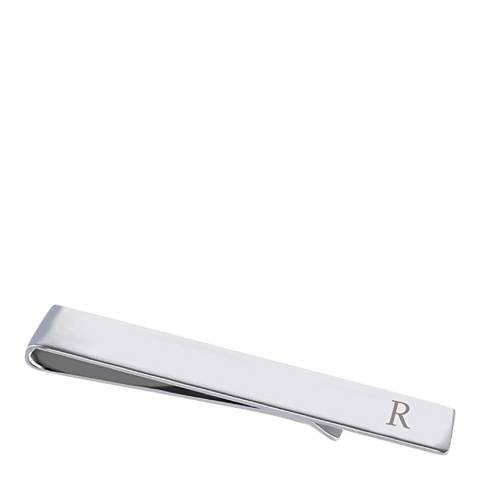 """Stephen Oliver Silver Initial """"R"""" Tie Bar"""