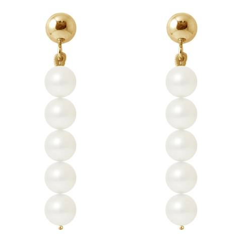 Manufacture Royale Yellow Gold / White Pearl Earrings