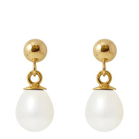 Manufacture Royale Yellow Gold / White Pearl Earrings 6-7mm
