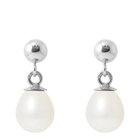 Manufacture Royale Silver/ White Pearl Earrings 6-7mm