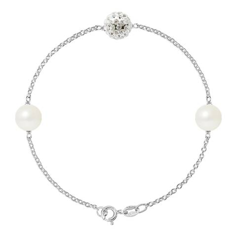 Manufacture Royale Silver / White Pearl Bracelet 8-9mm