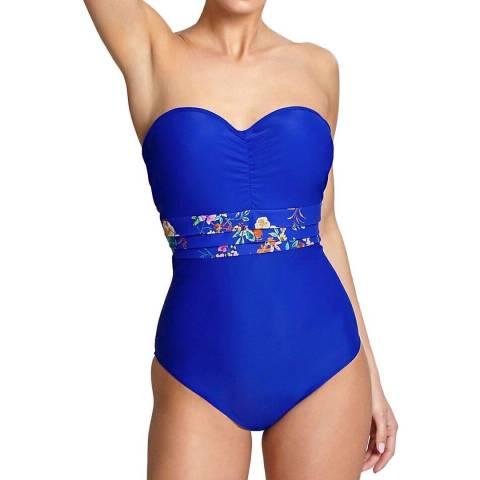 Panache Cobalt/Floral Florentine Swimsuit