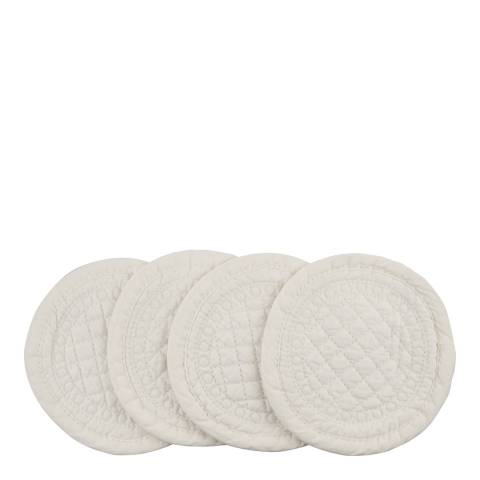 Mary Berry Set of 4 Ivory Signature Cotton Coaster