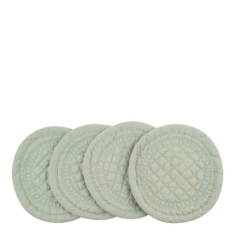 Mary Berry Set of 4 Pistachio Signature Cotton Coaster