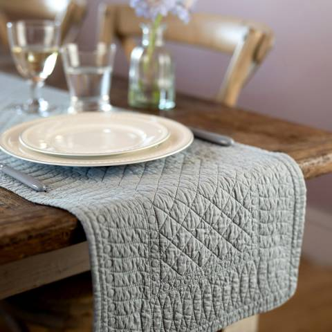 Mary Berry Grey Signature Cotton Table Runner