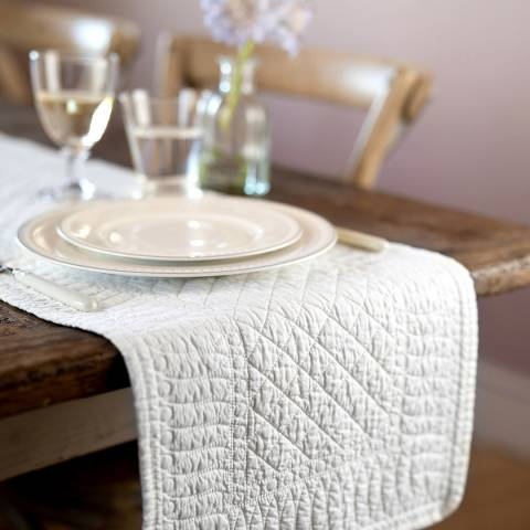 Mary Berry Ivory Signature Cotton Table Runner