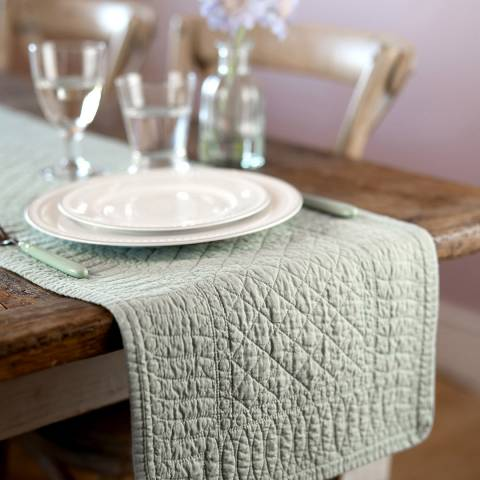 Mary Berry Pistachio Signature Cotton Table Runner