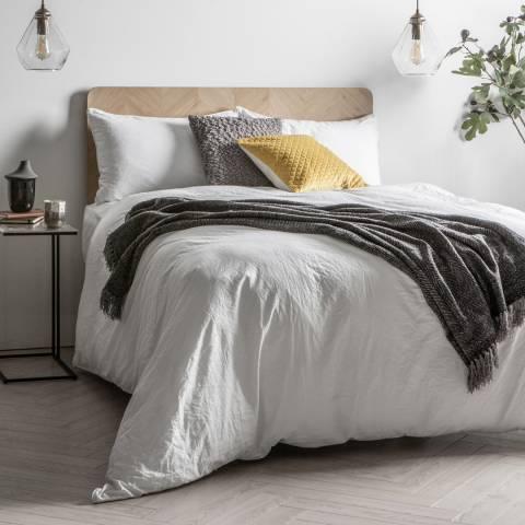 Gallery Linen Blend King Duvet Set, White