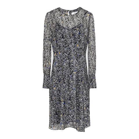 Reiss Blue Charlotte Ditsy Print Dress