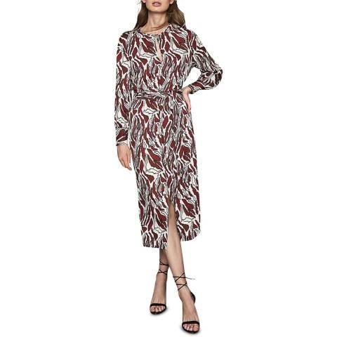 Reiss Multi Inaya Tiger Print Dress