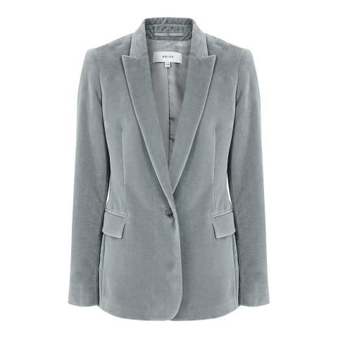 Reiss Blue Brie Velvet Jacket