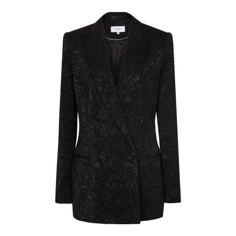 Reiss Black Dahlia Jacquard Jacket