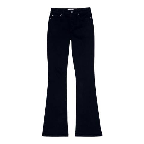Reiss Dark Denim Anabelle Flare Jeans