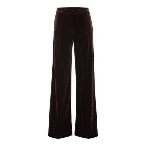 Reiss Brown Petra Fluid Velvet Trousers
