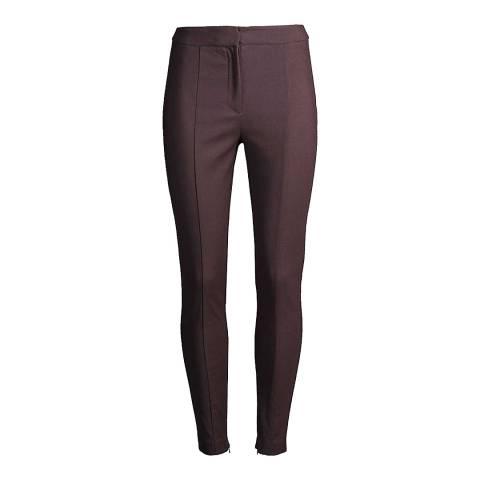 Reiss Burgundy Arla Skinny Trousers