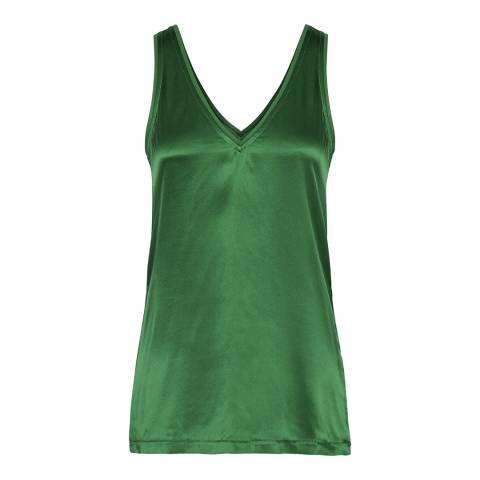 Reiss Green Darcia Silk Wrap Vest