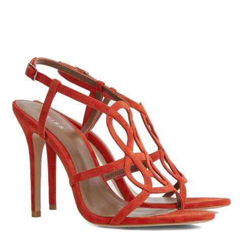 Reiss Red Pina Knot Sandals