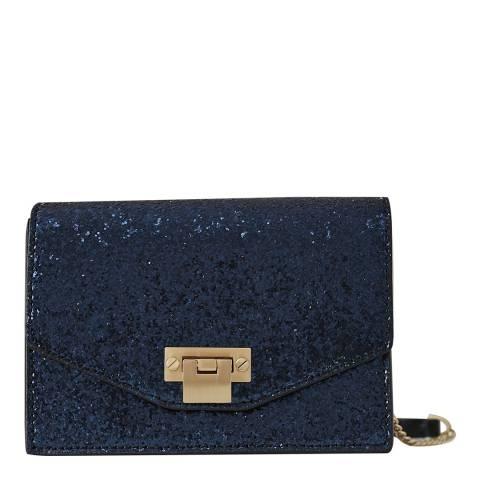 Reiss Navy Minnie Glitter Mini Bag