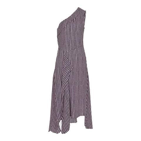Reiss Berry Printed Nia Midi Dress