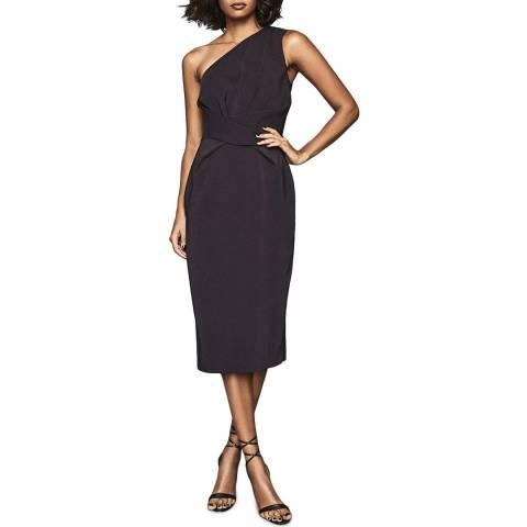 Reiss Purple Laurent One Shoulder Dress