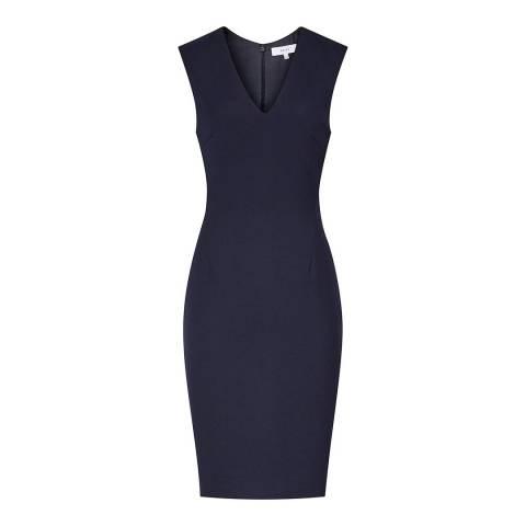 Reiss Navy Faulkner Tailored Dress