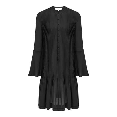Reiss Black Sylvan Pleat Dress