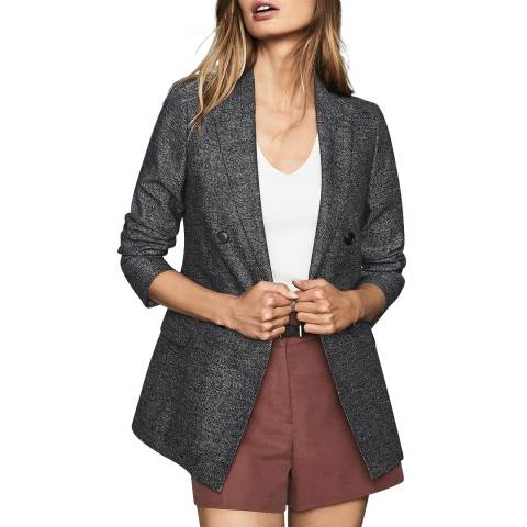 Reiss Navy Ossie Textured Blazer
