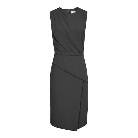 Reiss Black Josephine Sleeveless Dress