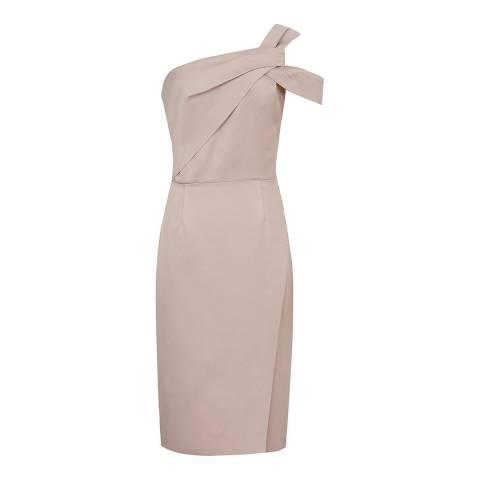 Reiss Taupe Melissa Twist Dress