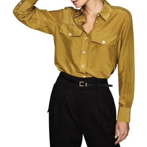 Reiss Green Jonie Utility Shirt
