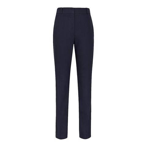 Reiss Indigo Belle Linen Blend Slim Trousers