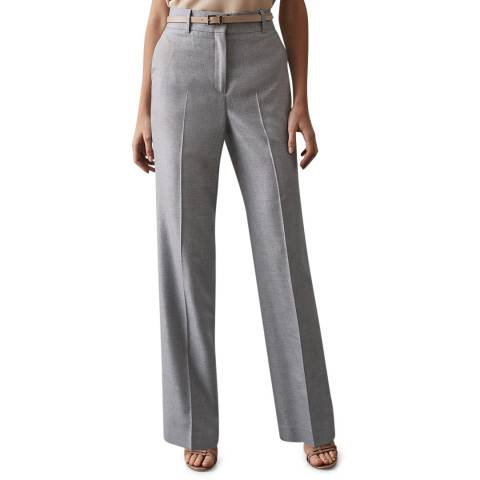 Reiss Light Blue Essie Wide Trousers