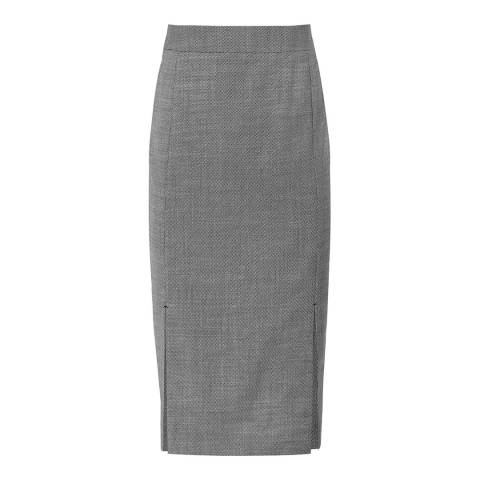 Reiss Grey Alber Stretch Pencil Skirt