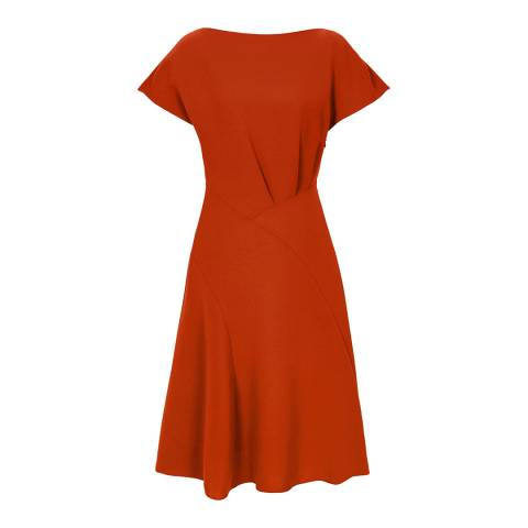 Reiss Red Victoria Cap Sleeve Dress