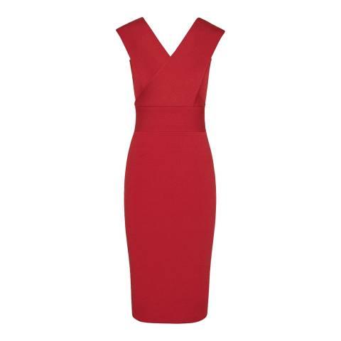 Reiss Red Salvia Knit Bodycon Dress
