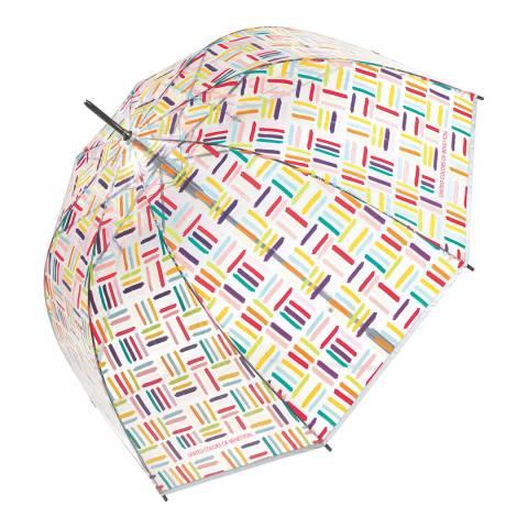 BENETTON Transparent / Multi Geometric Birdcage Umbrella