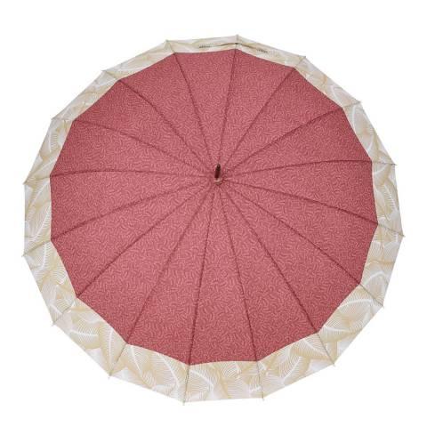 C-Collection Blush / Beige Tropical Border Umbrella