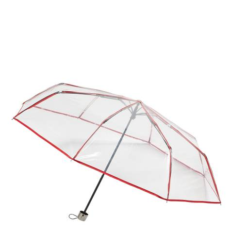 Dans l'air du temps Transparent / Red Border Umbrella