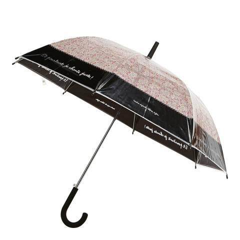Derrière la porte Transparent / Pink / Black Flower Birdcage Umbrella