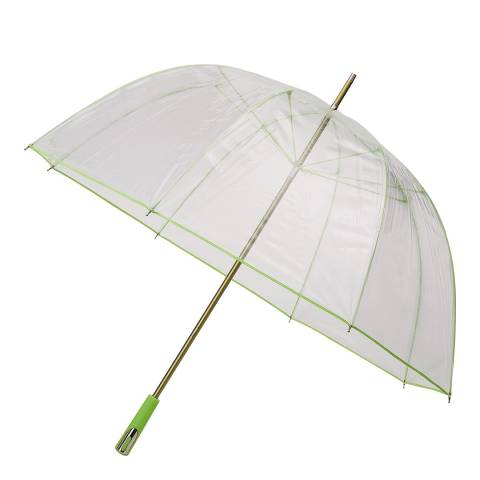 Falcone Transparent / Lime Border Birdcage Umbrella