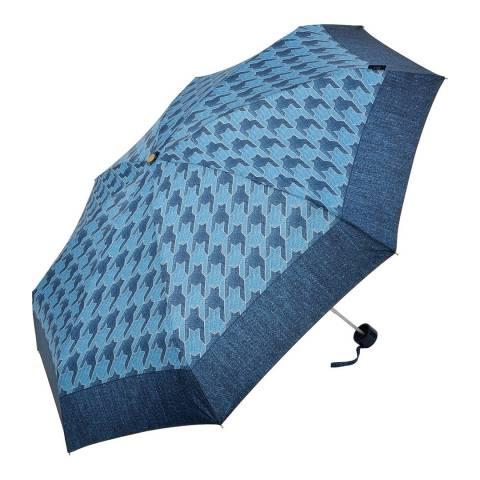 M&P Blue Houndstooth Border Umbrella