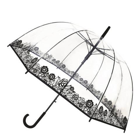 Smati Transparent / Black Flower Birdcage Umbrella