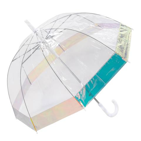 Susino Transparent / Iridescent Border Birdcage Umbrella