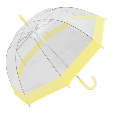 Susino Transparent / Yellow Border Birdcage Umbrella