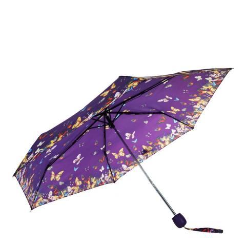 Susino Purple Butterflies Folding Umbrella