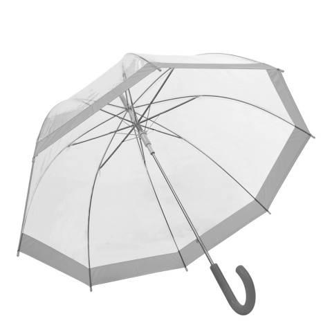 Susino Transparent / Silver Border Birdcage Umbrella
